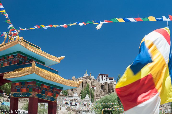 India,Jammu & Kashmir,Monastery,Prayer Flag,Stupa, photo