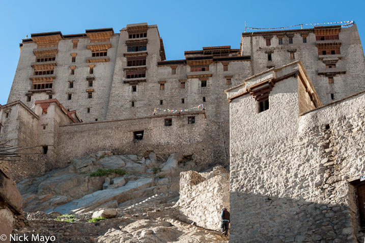 The Leh Palace on a ridge outside the town.