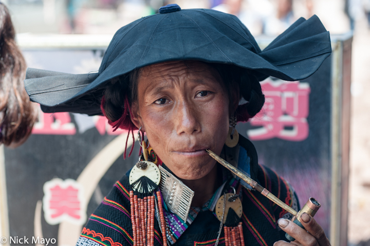China,Pipe,Sichuan,Smoking,Yi, photo