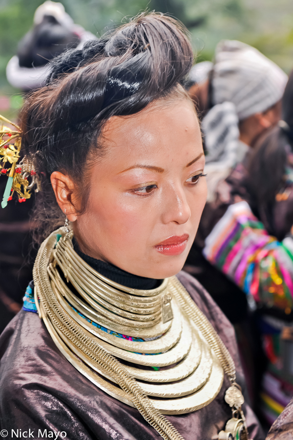 China,Dong,Festival,Guizhou,Hair,Necklace, photo