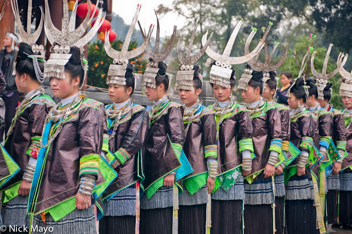 Bracelet,China,Festival,Guizhou,Headdress,Miao,Necklace, photo