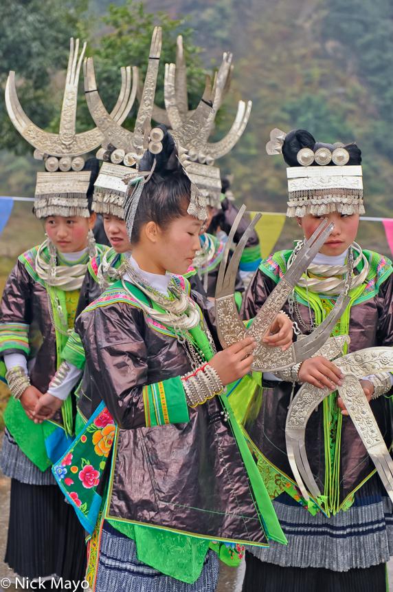 Bracelet,China,Festival,Guizhou,Hair,Headdress,Miao, photo