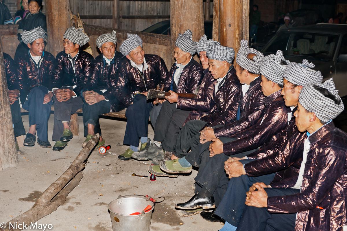 China,Dong,Festival,Guizhou,Singing,Stringed Instrument,Turban, photo