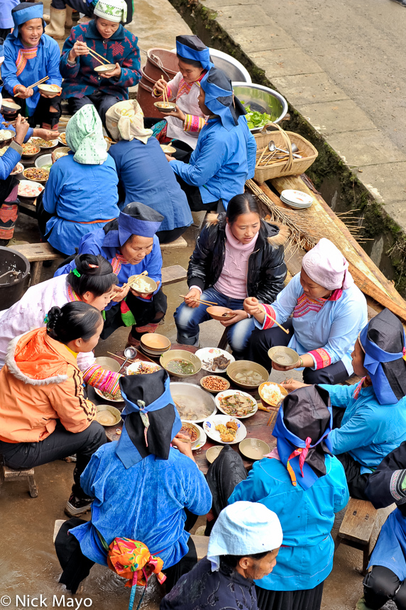 China,Eating,Guizhou,Hat,Miao, photo