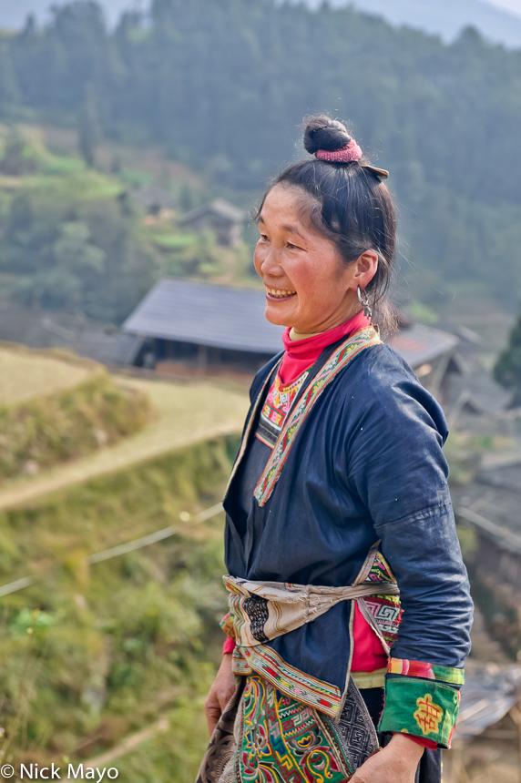 Apron,China,Earring,Guizhou,Hair,Miao, photo