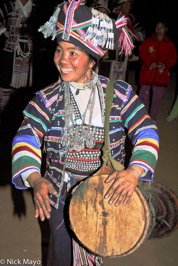 Breastpiece,China,Drumming,Earring,Festival,Hani,Headdress,Yunnan, photo