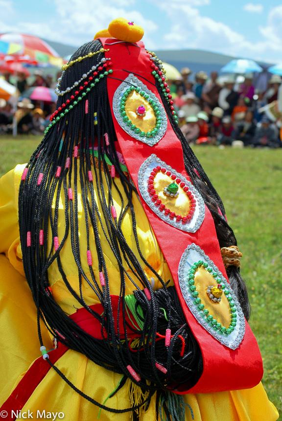 China,Festival,Hair,Hair Piece,Sichuan,Tibetan, photo