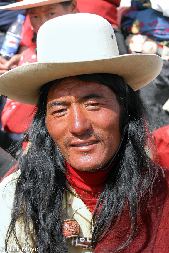 China,Festival,Hair,Hat,Sichuan,Tibetan, photo