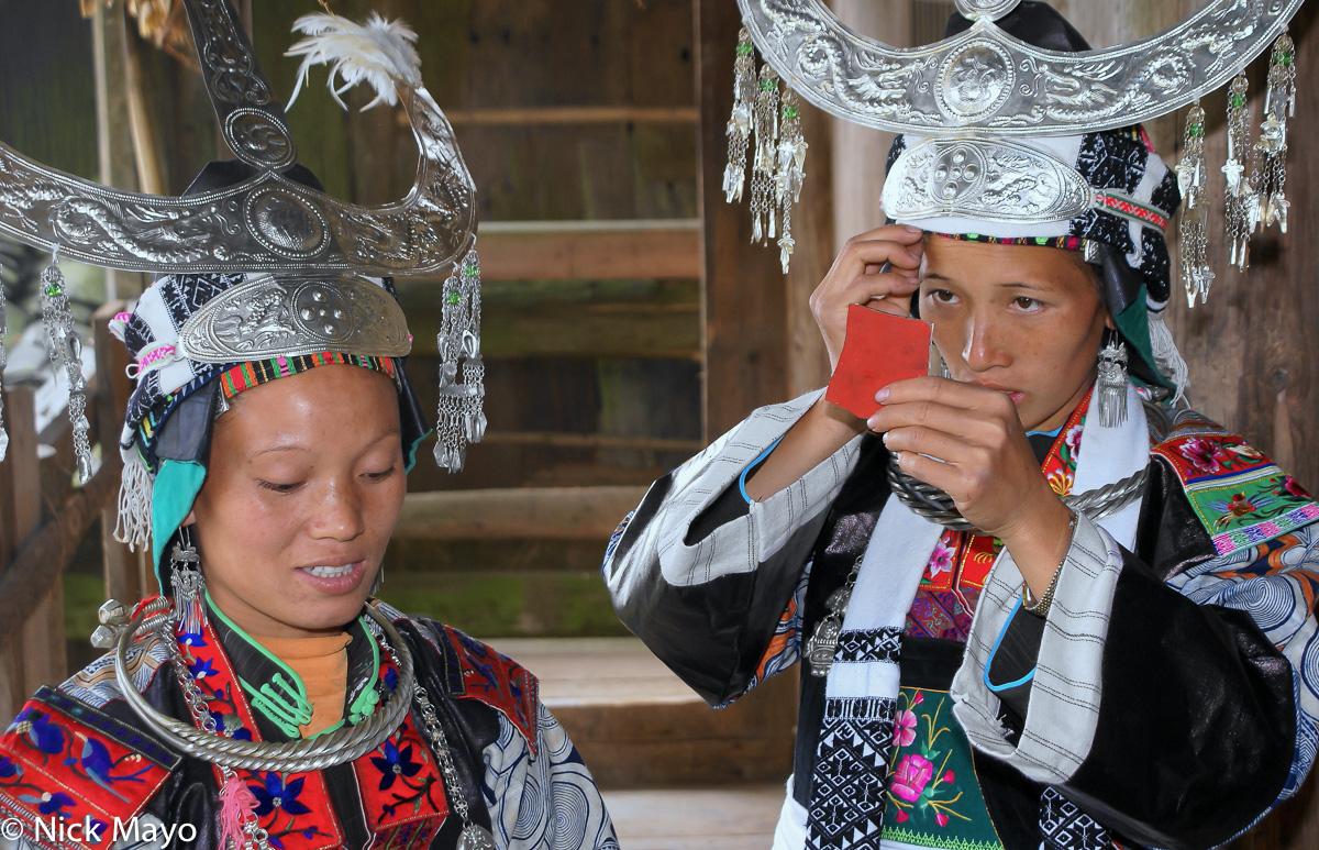 China,Earring,Guizhou,Headdress,Miao,Necklace, photo