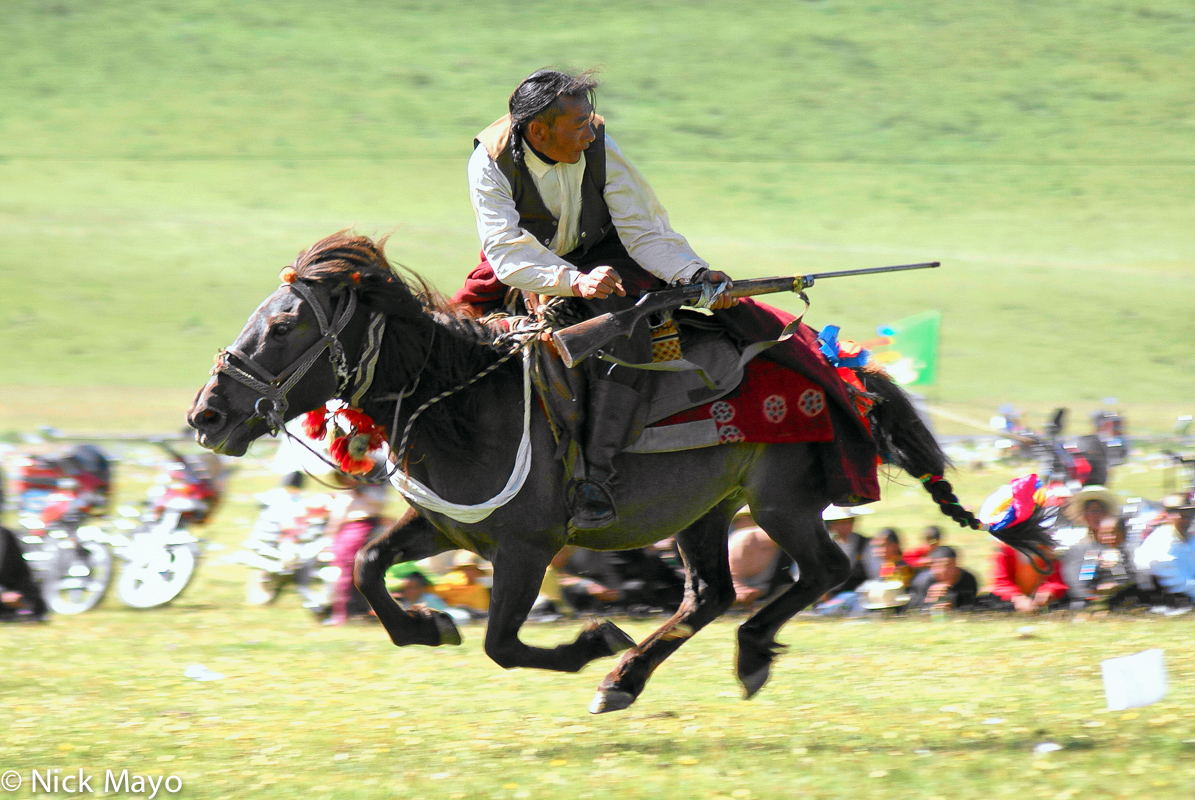 China,Festival,Horse,Rifle,Sichuan,Tibetan, photo