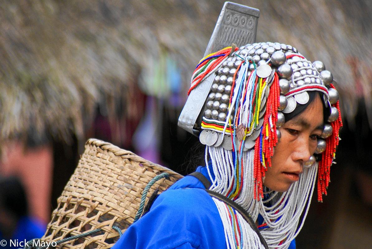 Basket,Burma,Hani,Market,Shan State,Shopping, photo
