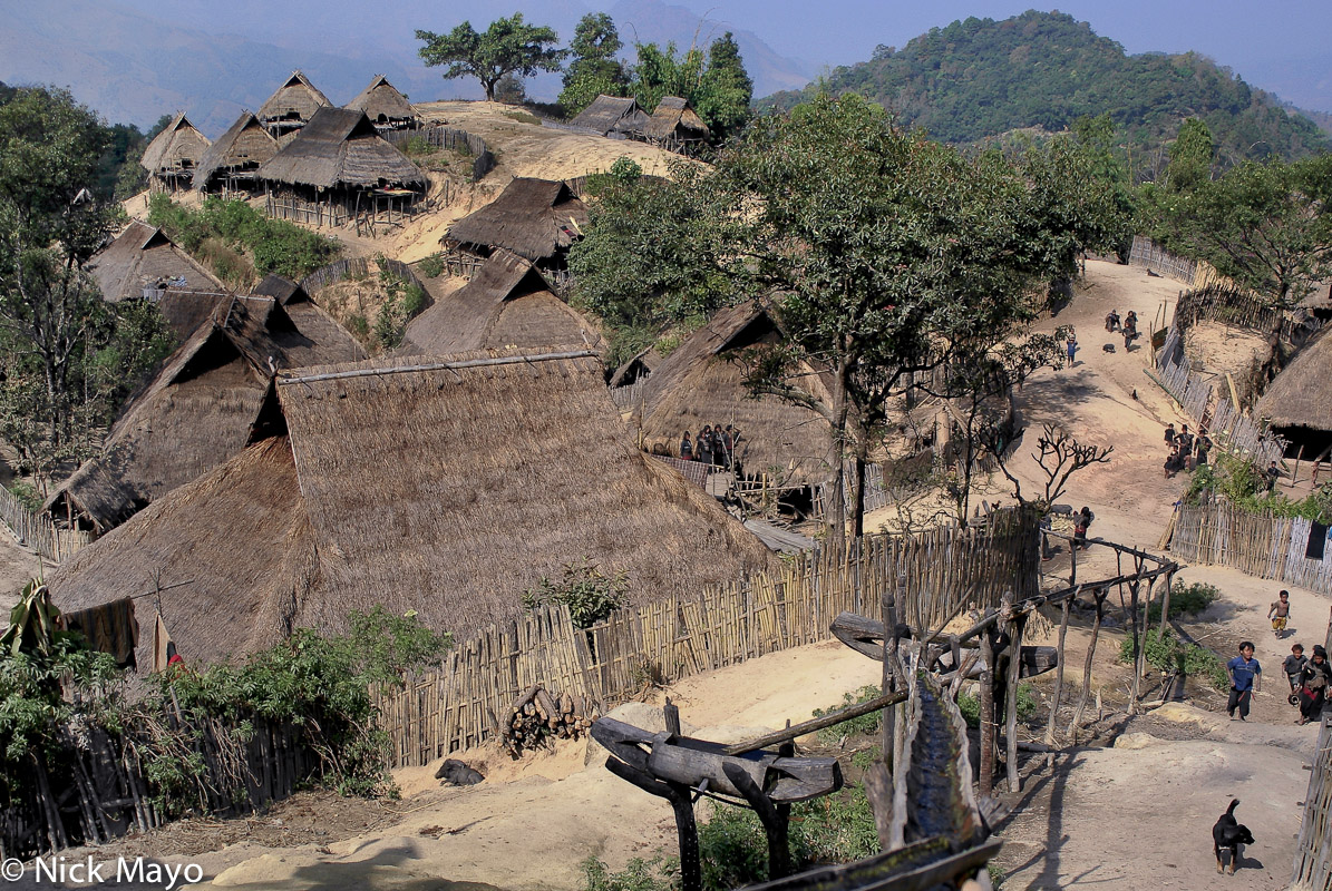 Burma,Eng,Shan State,Thatch,Village, photo