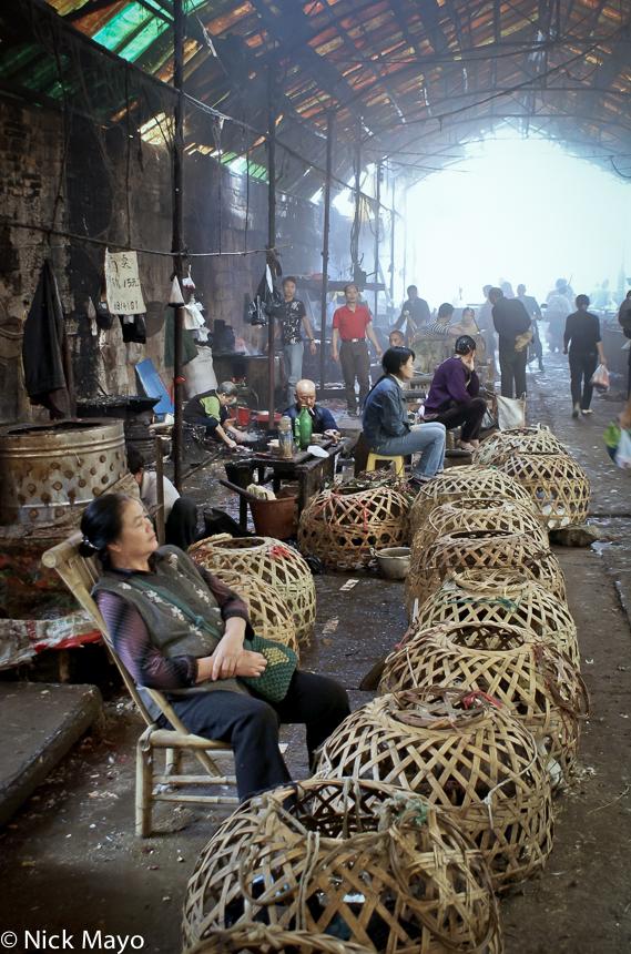 Basket,China,Guizhou,Market,Selling, photo