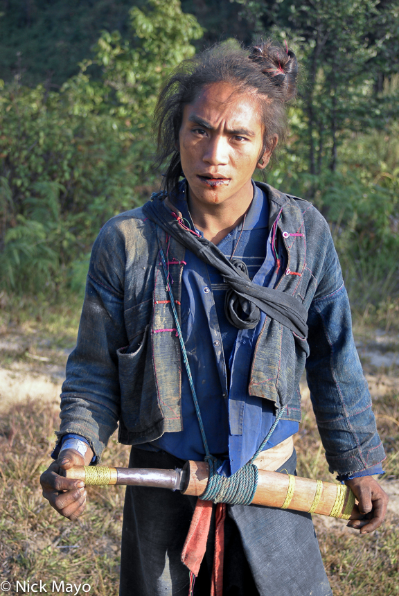 Burma,Eng,Hair,Knife,Shan State, photo
