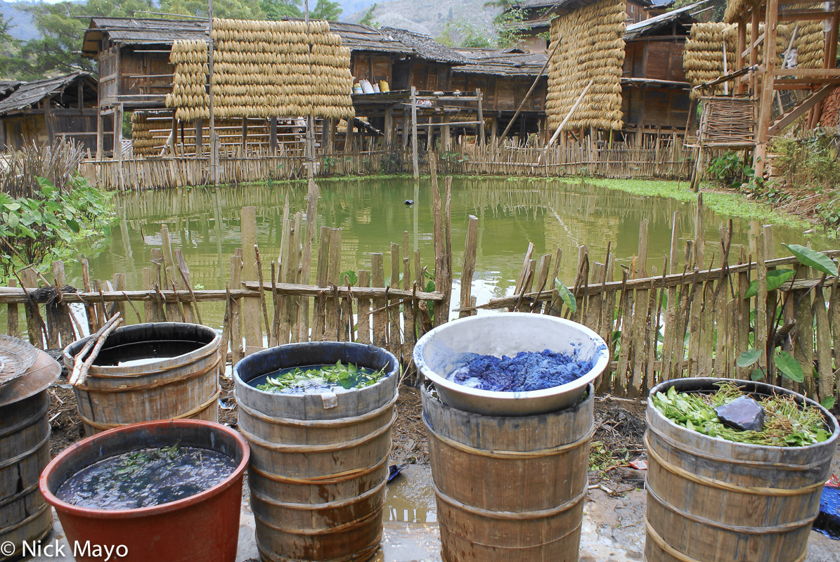 China,Drying,Drying Rack,Guizhou,Indigo,Paddy, photo