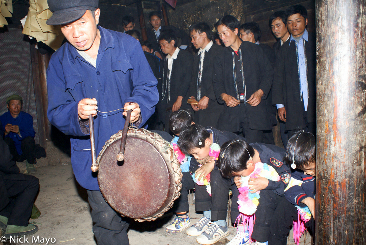 China,Drumming,Dujie,Yao,Yunnan, photo