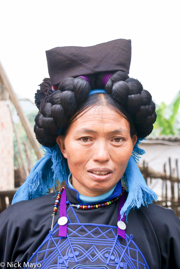 China,Hair Piece,Hani,Yunnan, photo