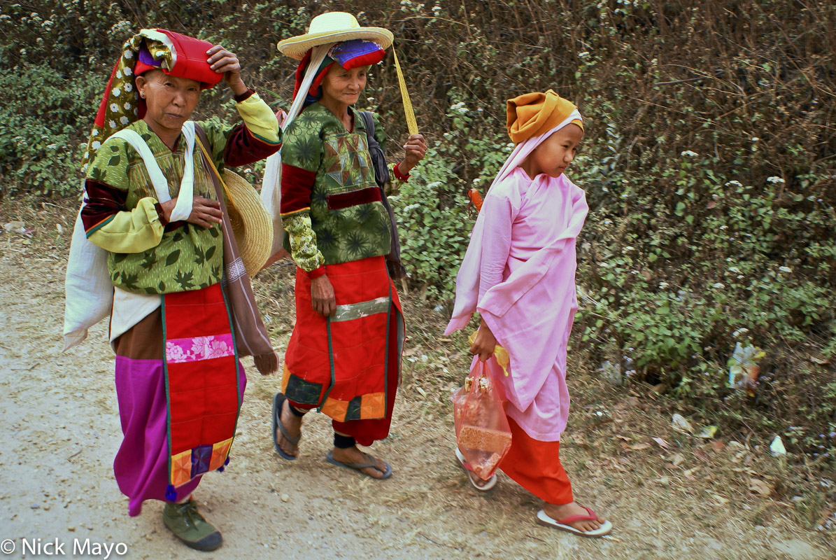 Burma,Festival,Nun,Palaung,Shan State, photo