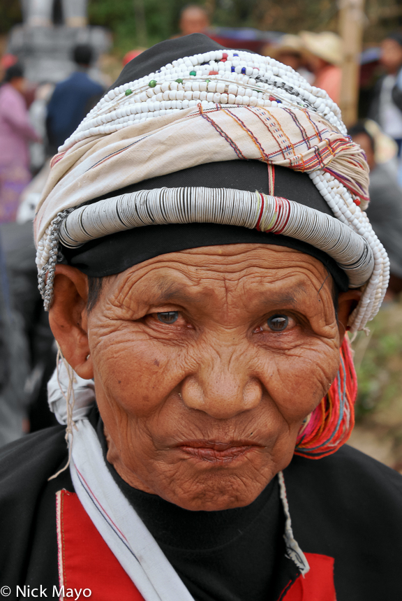 A Manle Palaung woman wearing at a festival in Namshan.