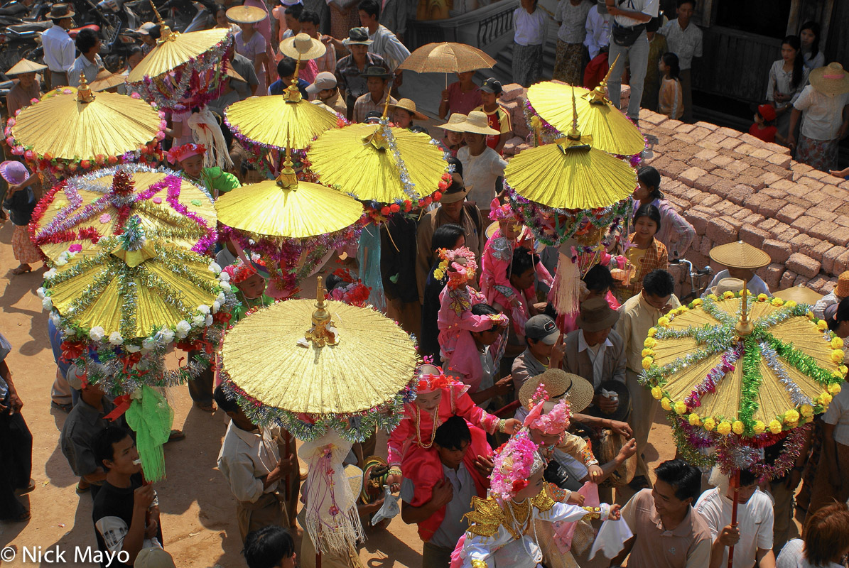 Burma,Procession,Shan,Shan State,Umbrella, photo