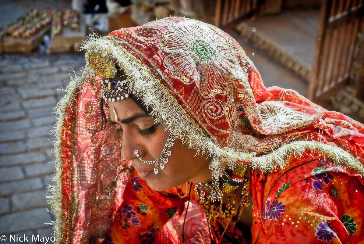 Head Scarf,India,Necklace,Nose Ring,Rajasthan, photo