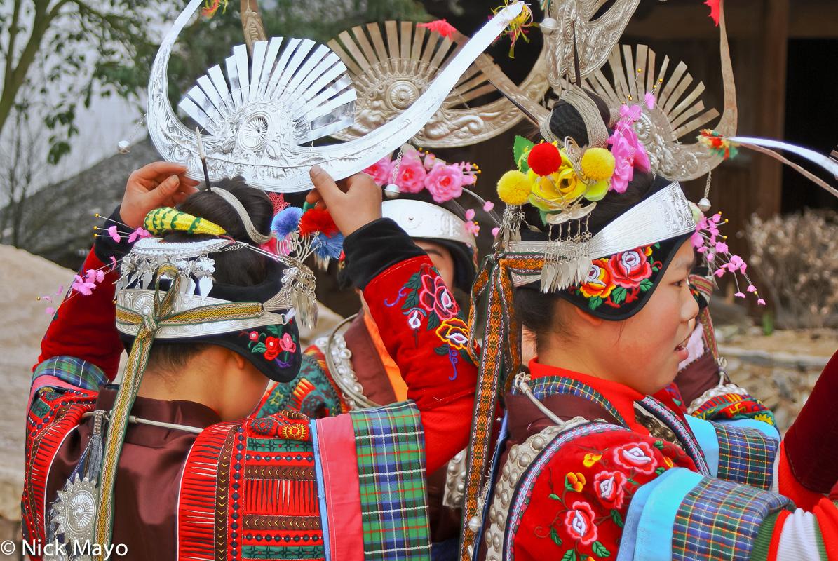 China,Festival,Guizhou,Headdress,Miao, photo