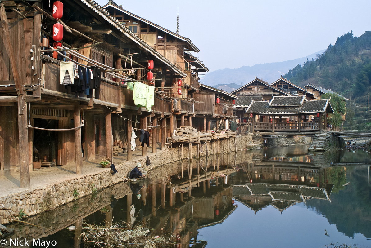Balcony,Bridge,China,Guizhou,Residence, photo