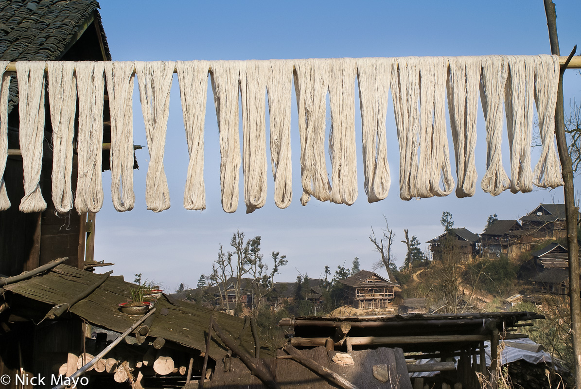 Yarn hung out to dry in Shan Pan.