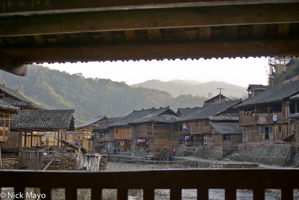 Balcony,China,Guizhou,Residence,Village, photo