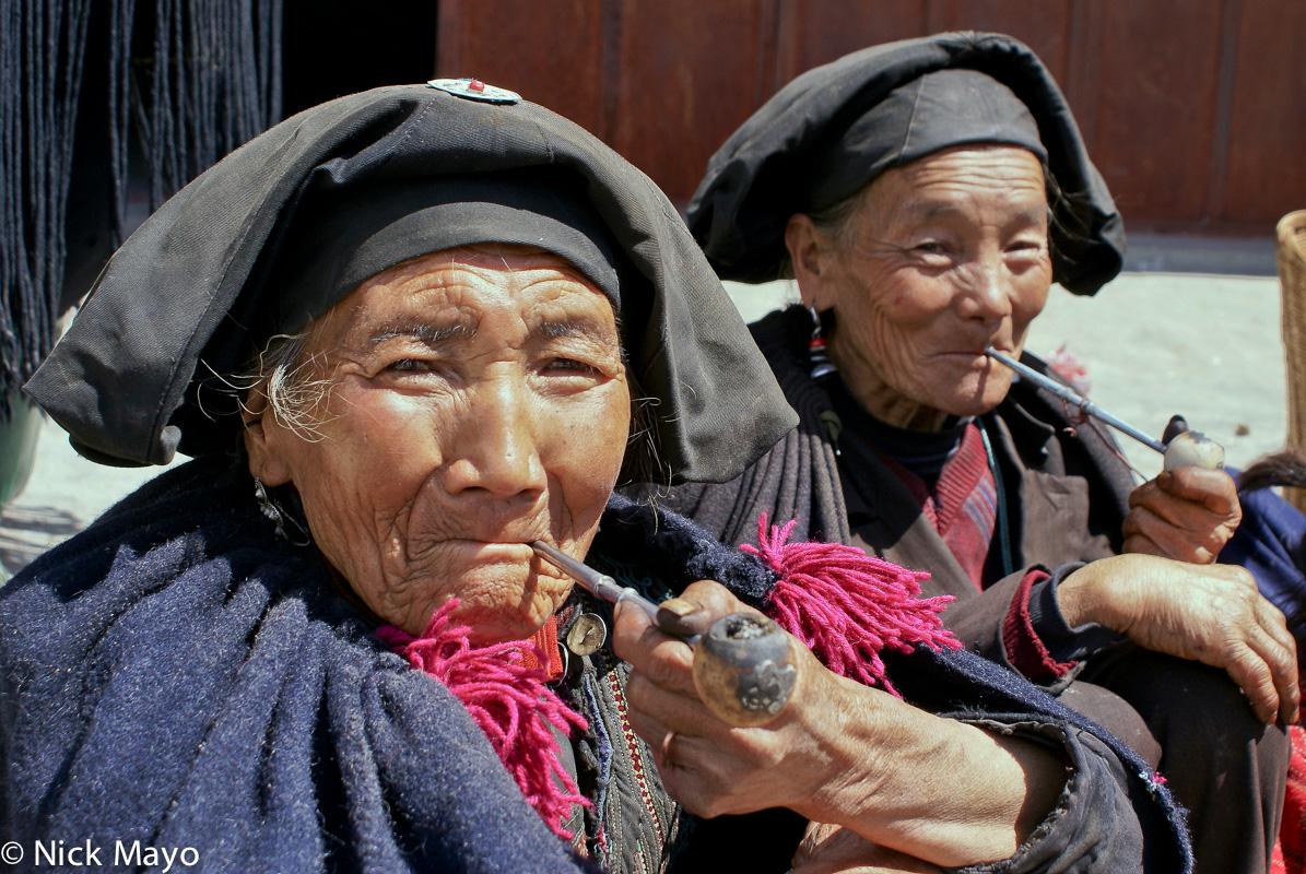 China,Hat,Pipe,Sichuan,Smoking,Yi, photo