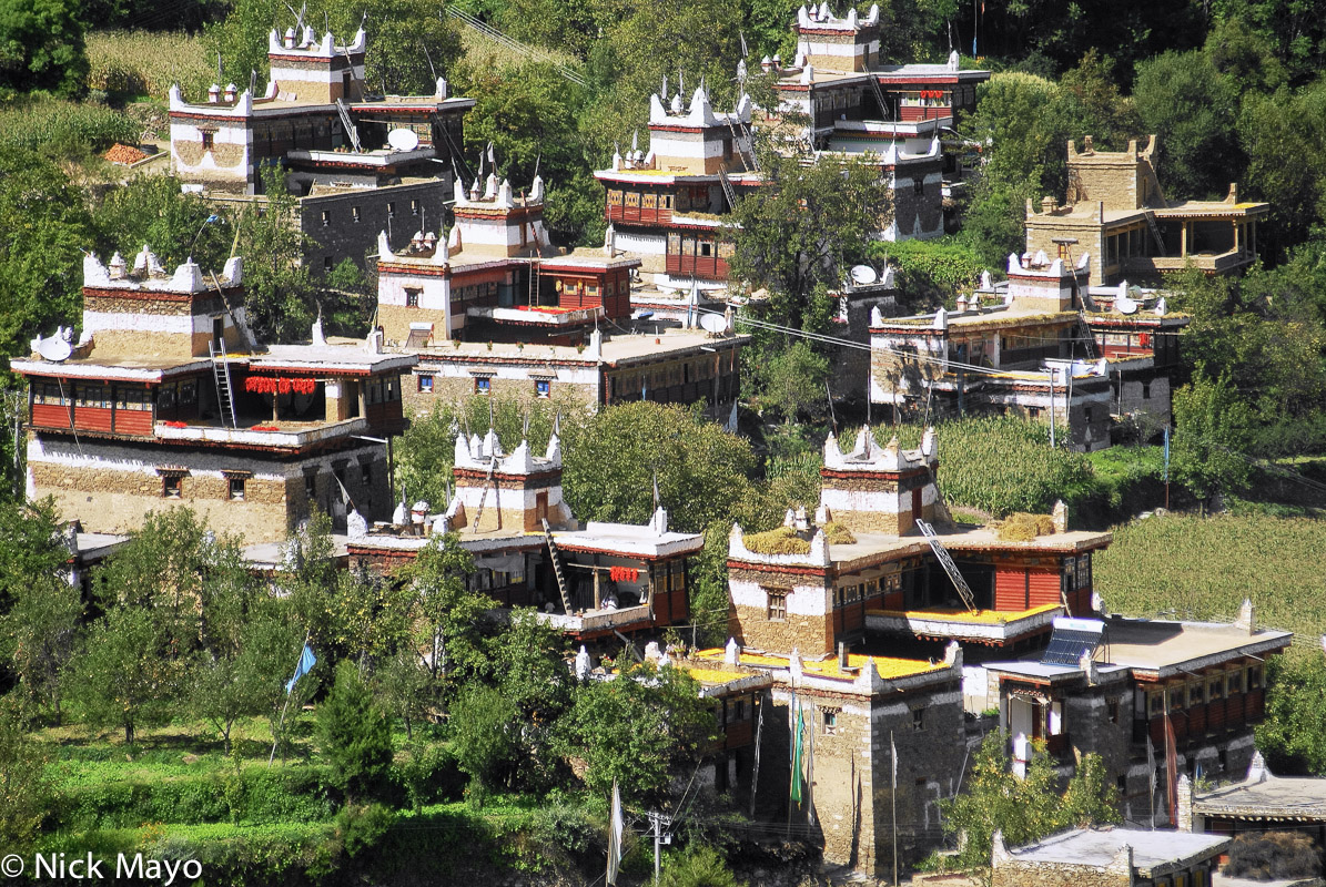 China,Drying,Roof,Sichuan,Village, photo