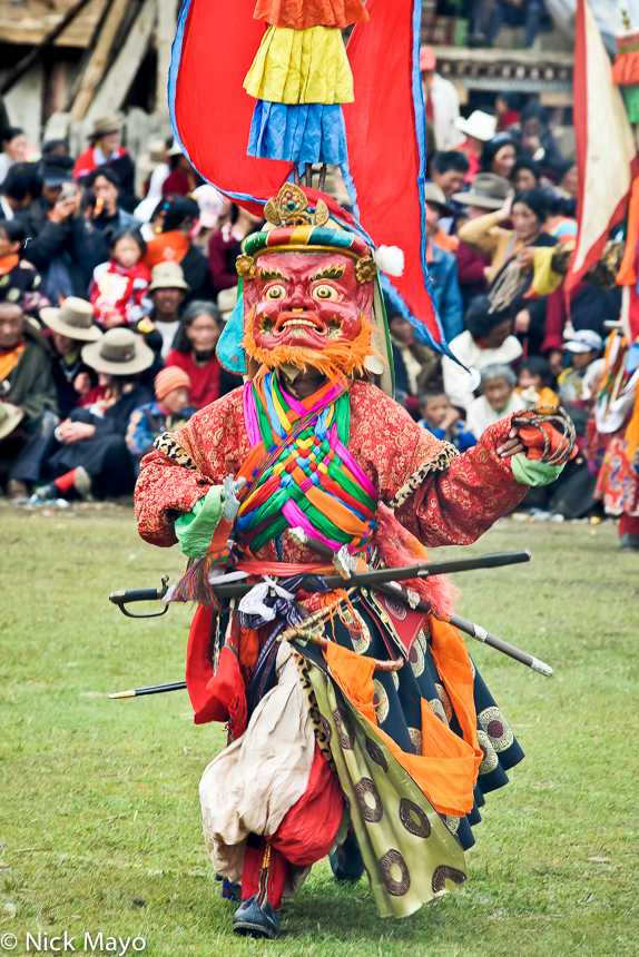 China,Dancing,Festival,Mask,Monk,Sichuan,Sword,Tibetan, photo