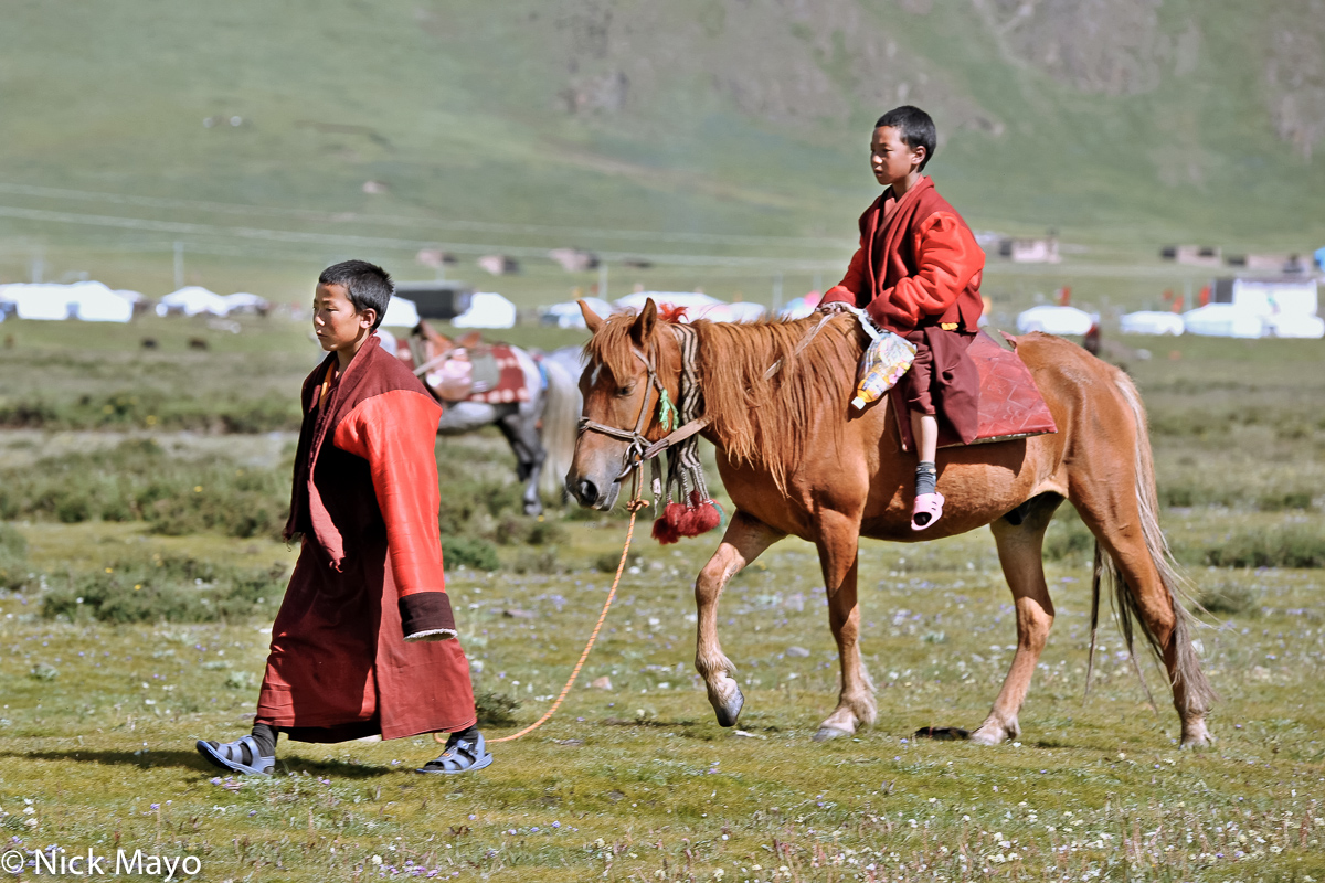 China,Festival,Horse,Monk,Sichuan,Tibetan, photo