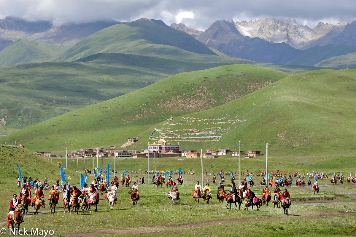China,Festival,Horse,Monastery,Sichuan,Standard,Tibetan, photo