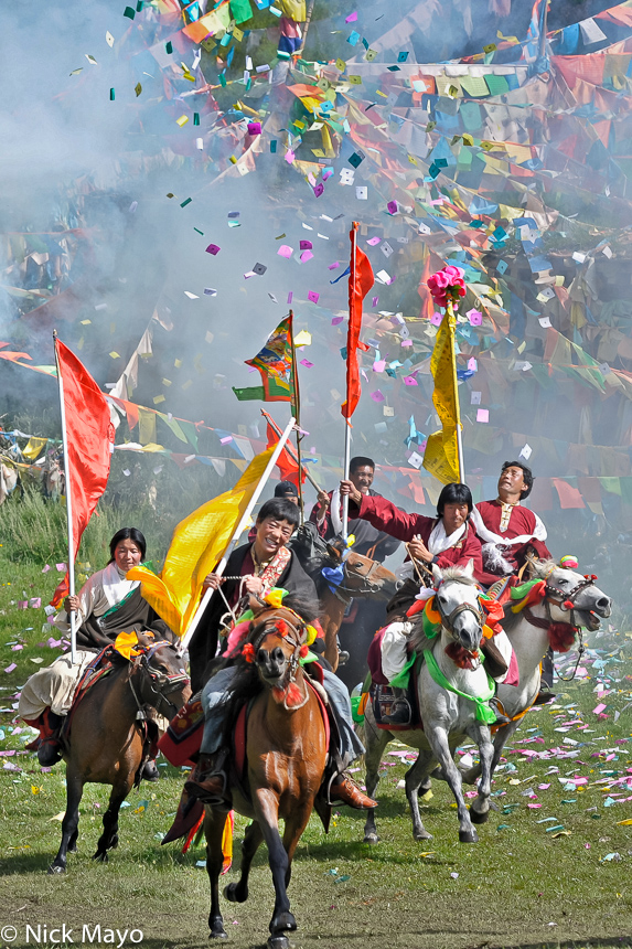 China,Festival,Horse,Prayer Flag,Sichuan,Standard,Tibetan, photo