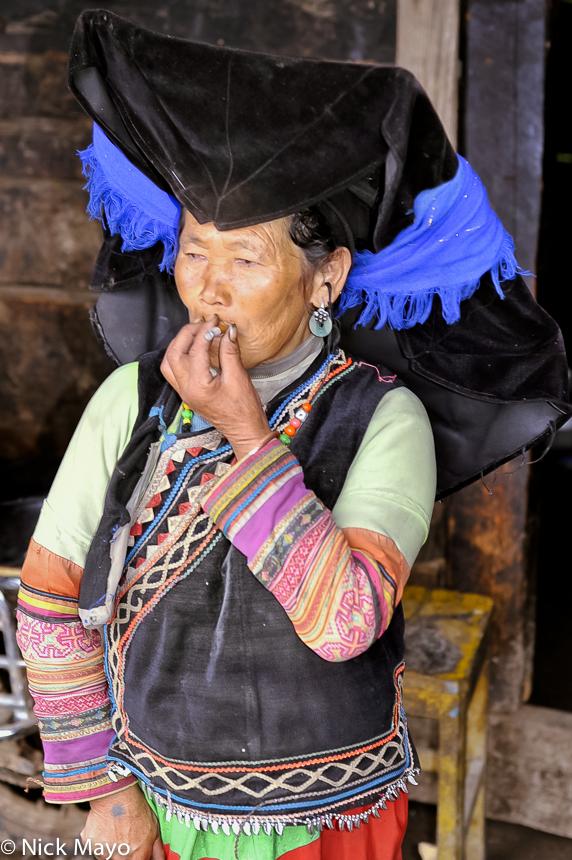 China,Earring,Hat,Smoking,Yi,Yunnan, photo