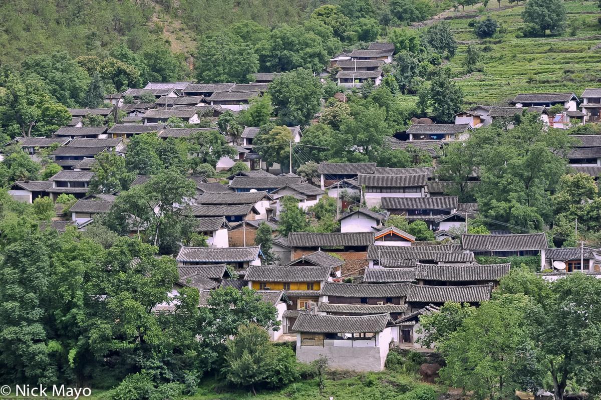 China,Roof,Village,Yunnan, photo