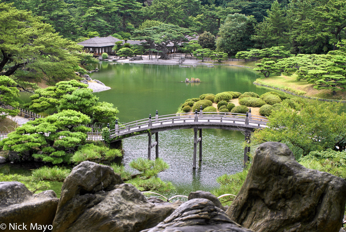 Bridge,Garden,Japan,Pavillion,Shikoku, photo