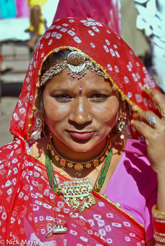 Earring,Head Band,Head Scarf,India,Necklace,Rajasthan, photo