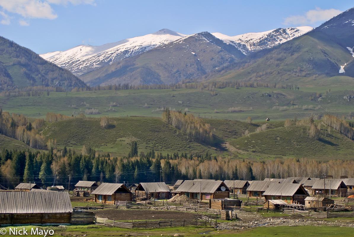 Cabin,China,Roof,Village,Xinjiang, photo