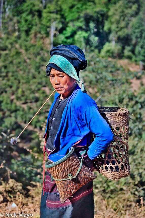 Bulang,China,Pipe,Smoking,Strap,Yunnan, photo