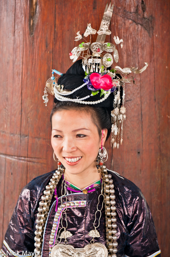 Breastpiece,China,Dong,Earring,Festival,Guizhou,Hair Piece, photo