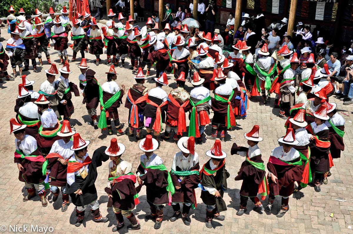 China,Festival,Hat,Procession,Qinghai,Tibetan, photo