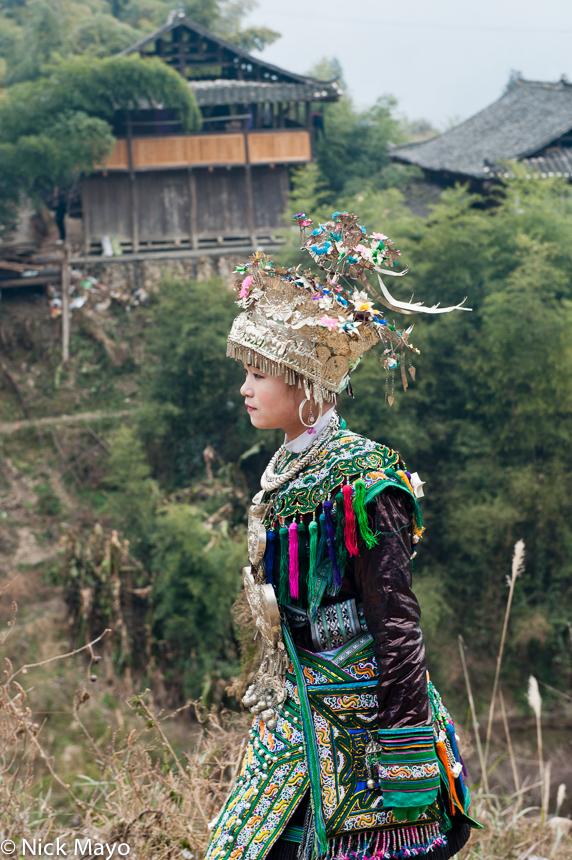 Breastpiece, China, Earring, Festival, Guizhou, Headdress, Miao, Necklace, photo