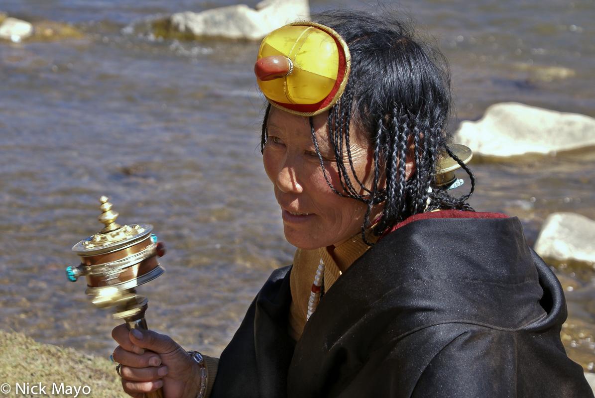 Assembly,China,Hair,Hair Piece,Prayer Wheel,Sichuan,Tibetan, photo