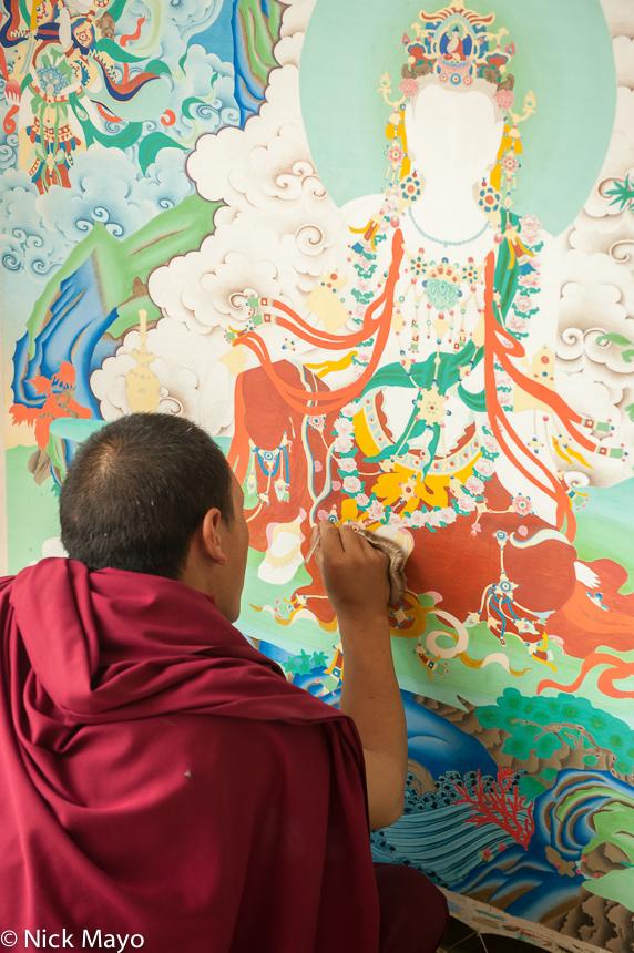 China,Monk,Qinghai,Tanka,Tibetan, photo
