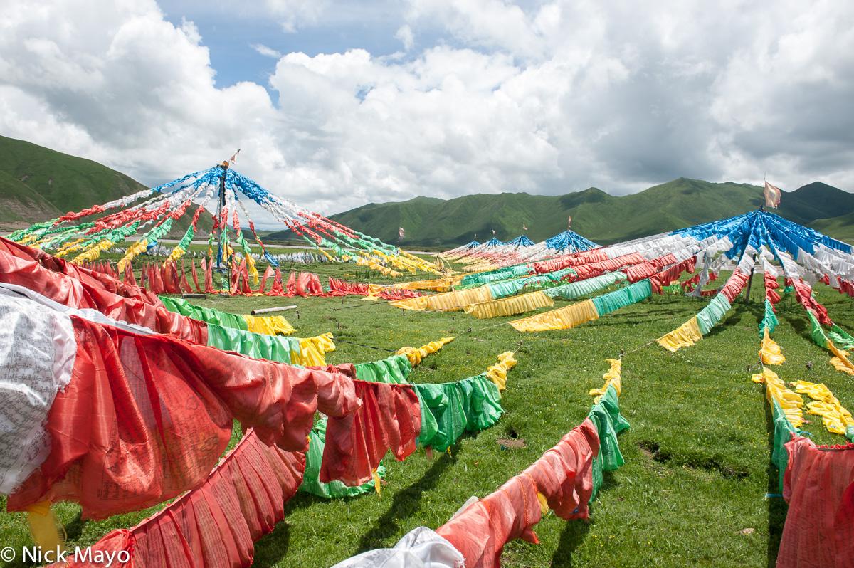 China,Prayer Flag,Qinghai, photo