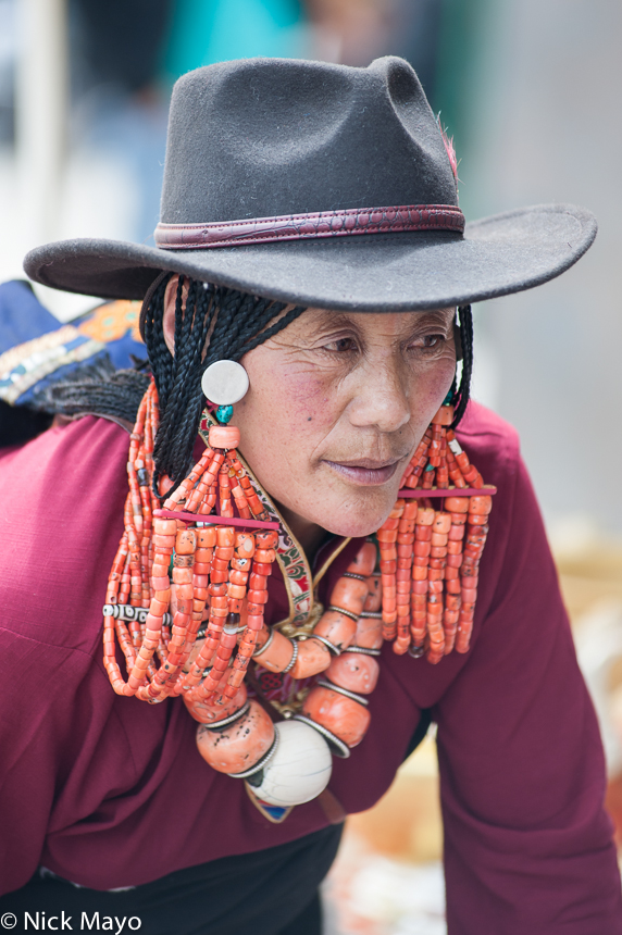 China,Hair,Hat,Necklace,Qinghai,Tibetan, photo