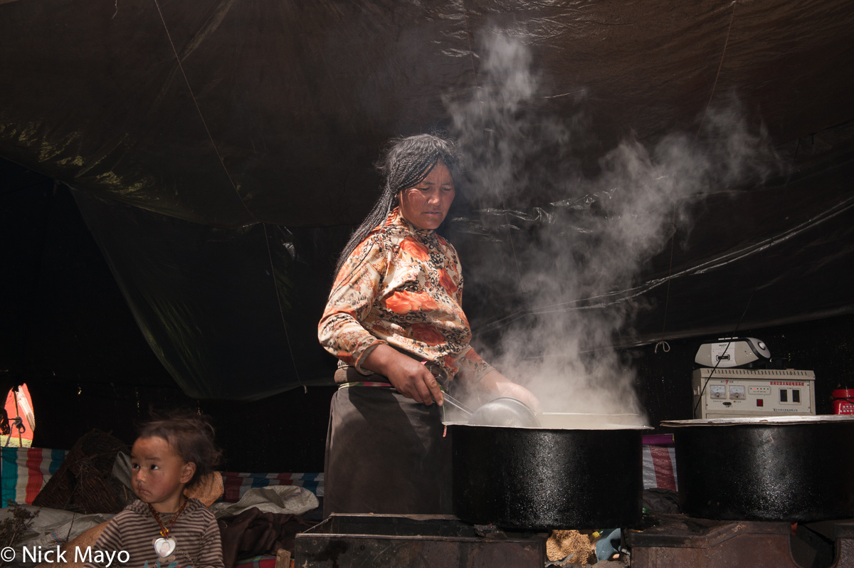 China,Cooking,Hearth,Qinghai,Tibetan, photo