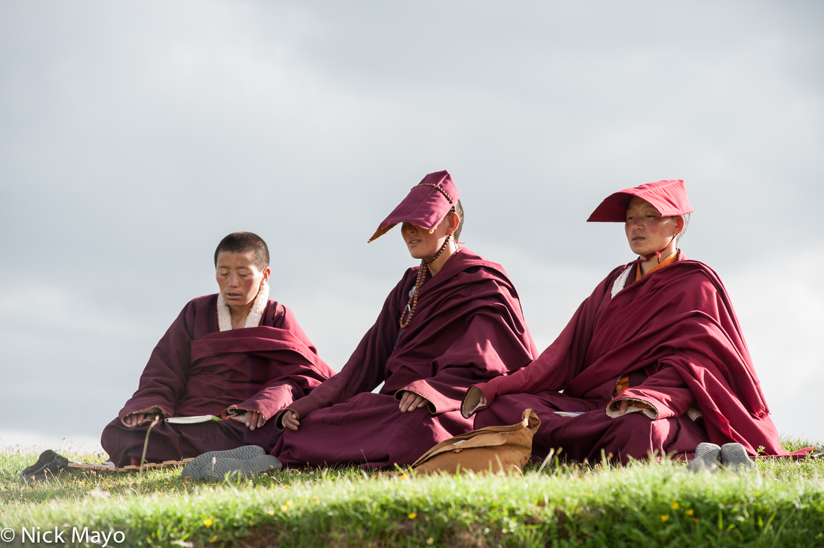 China,Hat,Nun,Sichuan,Tibetan, photo